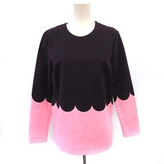 マリメッコ(marimekko)のマリメッコ シャツ カットソー 長袖 バイカラー プルオーバー 34 紫 ピンク(チュニック)
