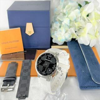 ルイヴィトン(LOUIS VUITTON)の未使用に近い☆ ルイヴィトン タンブールスリム ダミエグラフィット(腕時計(アナログ))