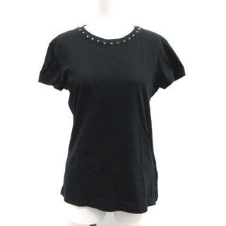 ヴァレンティノ(VALENTINO)のヴァレンティノ ヴァレンチノ XS Tシャツ カットソー ロックスタッズ 黒(Tシャツ(半袖/袖なし))