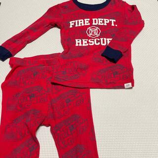 ベビーギャップ(babyGAP)のbaby gap 消防車柄パジャマ 90(パジャマ)