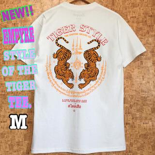 ステューシー(STUSSY)のタイガー ☆ 新品 EMPYRE TIGER Tシャツ 白 M USストリート(Tシャツ/カットソー(半袖/袖なし))