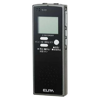 エルパ(ELPA)のエルパ ICレコーダー   ADK-ICR500      ブラッ(その他)