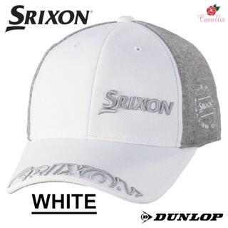 ダンロップ(DUNLOP)の新品 ダンロップ スリクソン プロモデル ニットメッシュキャップ WH(キャップ)