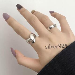 ロンハーマン(Ron Herman)のハートリング シルバー925 サイズ調節可能 silver925 リボン(リング(指輪))
