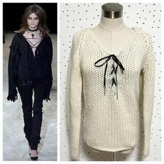 グッチ(Gucci)の本物 グッチ カシミヤ混 長袖 ニット セーター S アイボリー系 GUCCI(ニット/セーター)