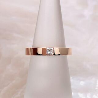 ハリーウィンストン(HARRY WINSTON)の★HARRY WINSTON★ プリンセスカットダイヤ マリッジリング K18(リング(指輪))
