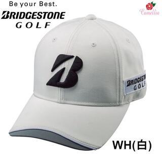 ブリヂストン(BRIDGESTONE)の新品 ブリヂストン BSGプロモデル ゴルフキャップ 帽子 Fサイズ WH(キャップ)