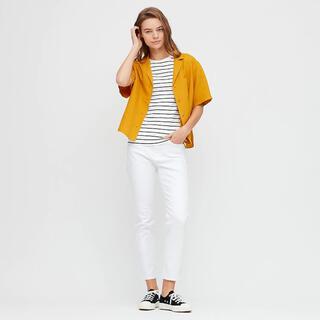 ユニクロ(UNIQLO)のUNIQLO リネンブレンドオープンカラーシャツユニクロユー +J プラスJ(シャツ/ブラウス(半袖/袖なし))