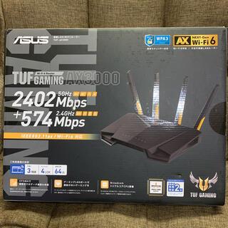 エイスース(ASUS)のASUS WiFi 無線 ルーターTUF-AX3000(PC周辺機器)