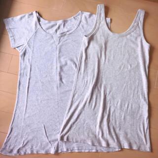 デュラス(DURAS)のデュラス ロンT&タンクトップグレー ヨガ(Tシャツ(半袖/袖なし))