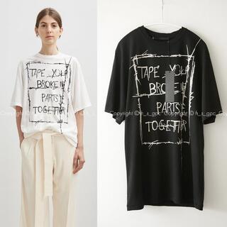 マルタンマルジェラ(Maison Martin Margiela)のハイダーアッカーマン スローガン Tシャツ カットソー グラフィック プリント(Tシャツ(半袖/袖なし))