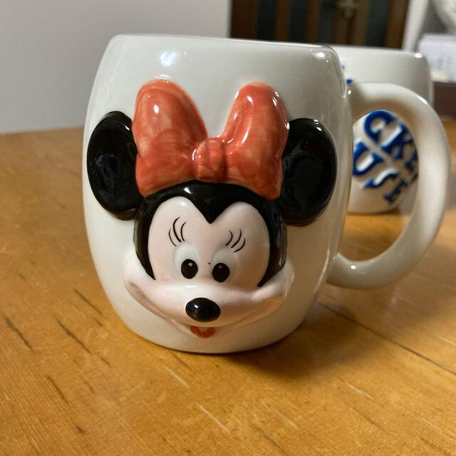 Disney(ディズニー)のミッキー ミニー マグカップ レトロ インテリア/住まい/日用品のキッチン/食器(グラス/カップ)の商品写真