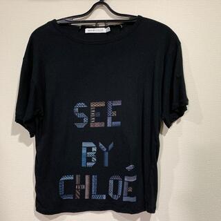 シーバイクロエ(SEE BY CHLOE)の【未使用に近い】シーバイクロエ ロゴデザインTシャツ カットソー(Tシャツ(半袖/袖なし))