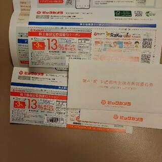 ビックカメラ株主優待券4000円分+クーポン券(ショッピング)