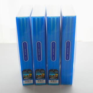 コクヨ(コクヨ)の【大容量】コクヨ アルバム 360枚収納 高透明ポケット 青 4冊セット(アルバム)
