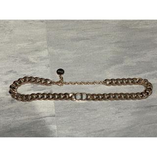 ディオール(Dior)のChristian Dior チェーン チョーカー ネックレス ゴールド(ネックレス)