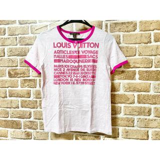 ルイヴィトン(LOUIS VUITTON)のLOUIS VUITTON ルイヴィトン Tシャツ フロントロゴ ピンク M(Tシャツ(半袖/袖なし))