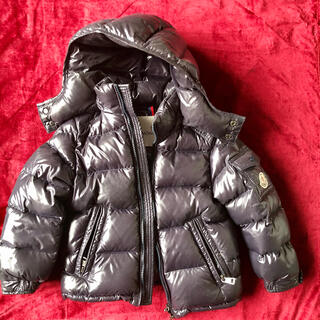 モンクレール(MONCLER)のダウンジャケット モンクレール キッズ 100サイズ ブラック(ジャケット/上着)