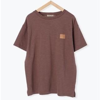 サマンサモスモス(SM2)の【ねこねこ食パン】バックプリント半袖Tシャツ ブラウン(Tシャツ(半袖/袖なし))