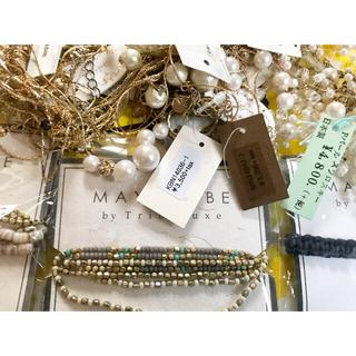 新品未使用まとめ売りネックレス&MAYGLOBE 天然石 貝パールスワロフスキー(ネックレス)