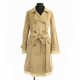 トッカ(TOCCA)のトッカ TOCCA 袖裾フリル トレンチコート ダブル ロング ベルト付き(トレンチコート)