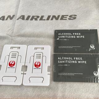 ジャル(ニホンコウクウ)(JAL(日本航空))のJAL スマホスタンド&ノンアルコール除菌シート(航空機)