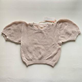 キャラメルベビー&チャイルド(Caramel baby&child )の新品タグ付 soor ploom Mimi Knit Top Milk 4/5y(ニット)
