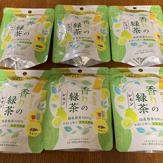 三井銘茶 ティーバッグ 香りの緑茶レモン 6袋(茶)