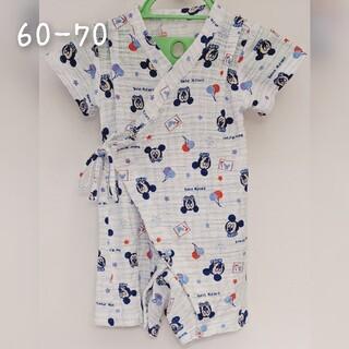 ディズニー(Disney)のDisney ミッキー ベビー 浴衣 甚平 60 70(甚平/浴衣)