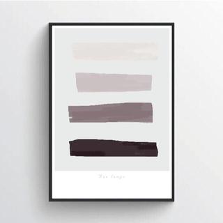 【アートポスター】ニュアンス ベージュ 抽象画 壁画 選べるサイズ おしゃれ(アート/写真)