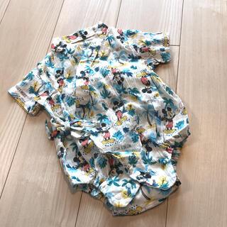 ディズニー(Disney)のミッキー 甚平 ロンパース ディズニー(甚平/浴衣)