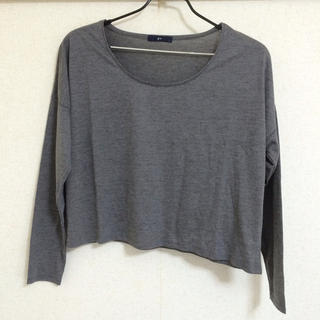 ジーユー(GU)の《新品》g.u.:シンプルTシャツ(Tシャツ(長袖/七分))
