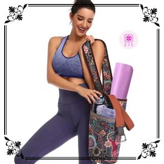【新品】ヨガ ショルダーバッグ 花柄 ボヘミアン インポート 海外製 ポケット(ヨガ)