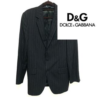 ドルチェアンドガッバーナ(DOLCE&GABBANA)のドルチェ&ガッバーナ テーラードジャケット ジャケット 黒 スーツ ブランド L(テーラードジャケット)
