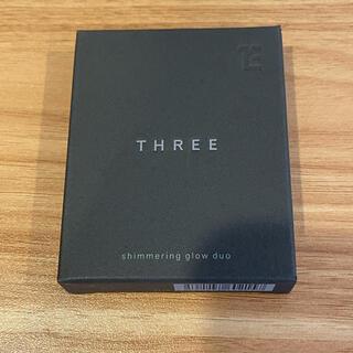スリー(THREE)のTHREE シマリング グロー デュオ 01(チーク)