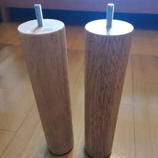 ムジルシリョウヒン(MUJI (無印良品))の無印良品(MUJI)木製脚(M8) 26cm ナチュラル 2本(その他)
