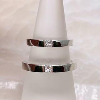 ハリーウィンストン(HARRY WINSTON)の★HARRY WINSTON★ プリンセスカット 結婚指輪 PT950(リング(指輪))