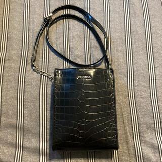 エモダ(EMODA)のEMODA エモダ ショルダーバッグ バッグ 鞄 黒 クロコ型(ショルダーバッグ)