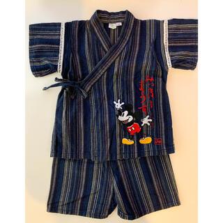 ディズニー(Disney)の【美品】ミッキーマウス 甚平(甚平/浴衣)