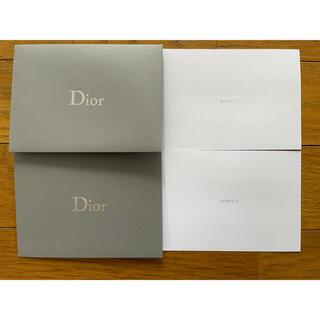 ディオール(Dior)のDior 「ありがとう」メッセージカード 2セット(カード/レター/ラッピング)