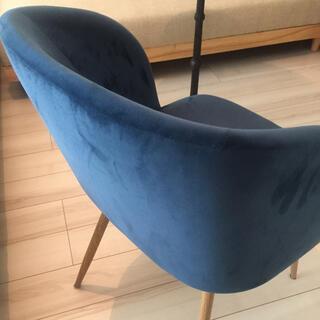 ムジルシリョウヒン(MUJI (無印良品))のソストレーネグレーネ ベロアチェア シグネチャーアイテム 希少カラー 椅子(スツール)