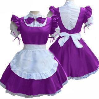 メイド衣装 パープル Mサイズ(海外製品)(衣装一式)