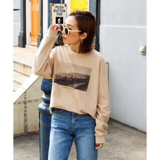 アンティローザ(Auntie Rosa)の【美品】Auntie Rosa Holiday モノクロフォトTシャツ(Tシャツ(長袖/七分))