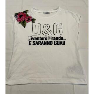 ドルチェアンドガッバーナ(DOLCE&GABBANA)のドルチェ&ガッバーナキッズ6Aフレンチチュール刺繍(Tシャツ/カットソー)