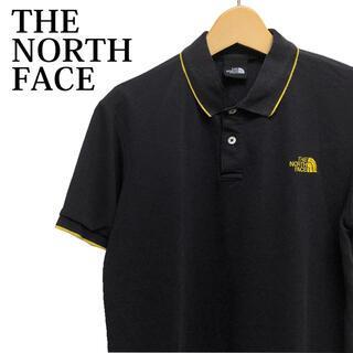 ザノースフェイス(THE NORTH FACE)のTHE NORTH FACE 半袖ポロシャツ 半袖カットソー 黒 ワンポイント(ポロシャツ)