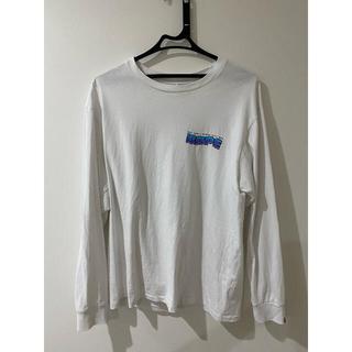 アベイシングエイプ(A BATHING APE)のA BATHING APE  ロンT ホワイト(Tシャツ/カットソー(七分/長袖))