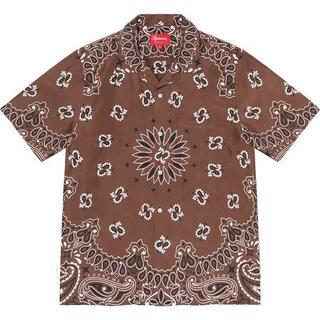 シュプリーム(Supreme)のSupreme Bandana Silk S/S Shirt Brown M(シャツ)