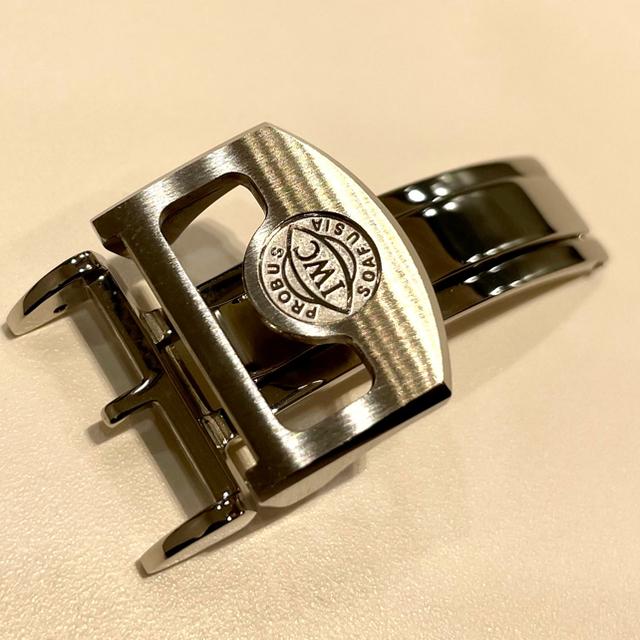 IWC(インターナショナルウォッチカンパニー)の新品未使用 IWC  Dバックル セット 専用  革ベルト 20mm ① メンズの時計(レザーベルト)の商品写真