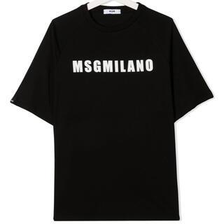 エムエスジイエム(MSGM)の【新作】MSGM ロゴTシャツ ブラック 12(Tシャツ(半袖/袖なし))