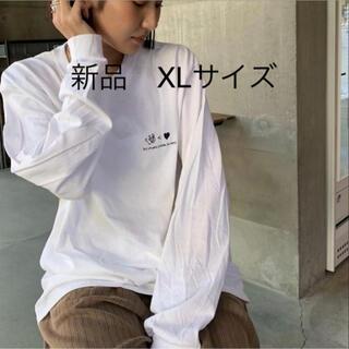 新品 XL カオヨリナカミ LS TEE white ロンT ホワイト(Tシャツ/カットソー(七分/長袖))